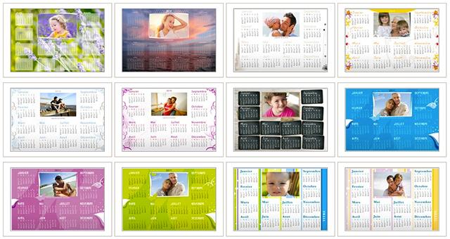 calendriers horizontaux
