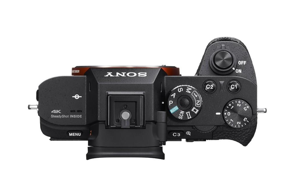 appareil-photo-sony-A7S-II-dessus